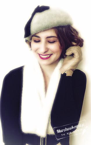 marchewkowa, blog, szafiarka, retro, moherowy beret, szaleo, rękawiczki skórzane, ko-moda, kosmetyki, mariza