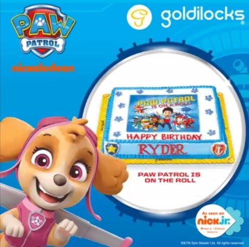 Make birthday celebrations extra special with a Goldilocks Paw Patrol Theme Cake