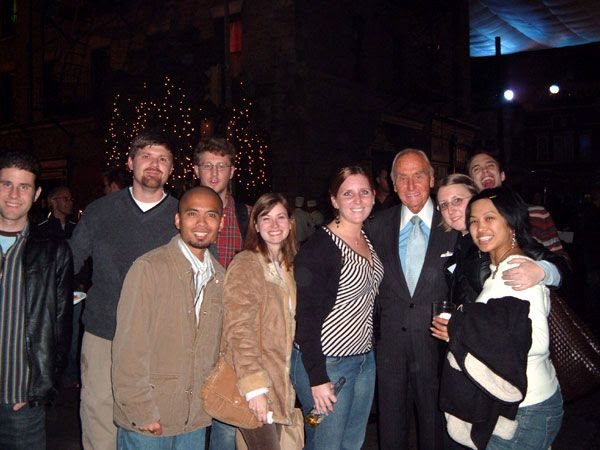 Several fellow Pages and I pose with producer AC Lyles at Paramount Studios' Christmas party in December of 2005.