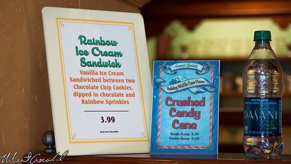 Disneyland Resort, Disney California Adventure, Buena Vista Street, Christmas, Time, Clarabelle's Hand Scooped Ice Cream