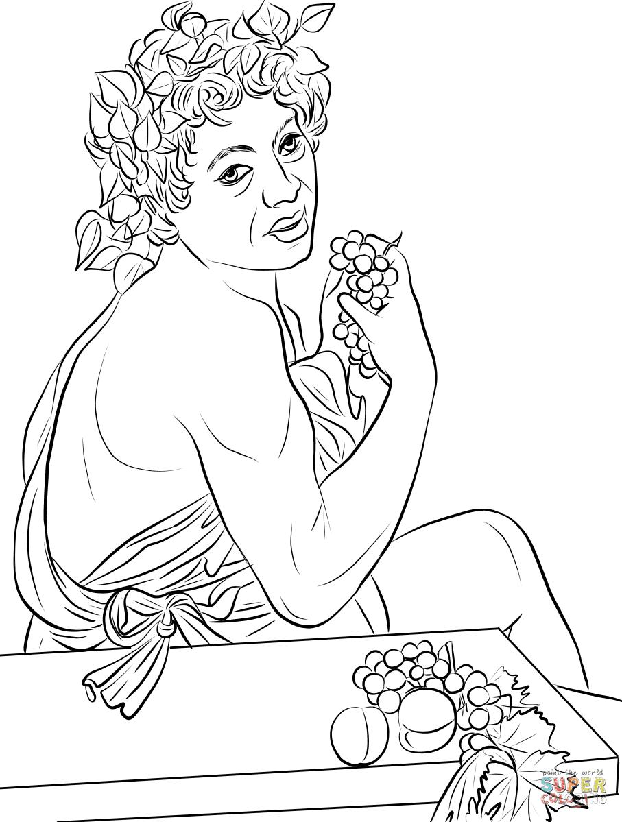 Dibujo De Baco Enfermo De Caravaggio Para Colorear Dibujos Para