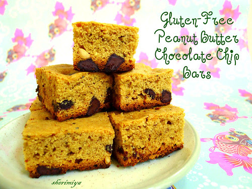 Peanut Butter Chocolate Chip Bars (gluten-free) by sherimiya ♥