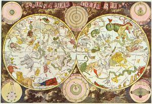 Mapa 'Firmamentum Sobiescianum sive Uranographia' (1690), del astrónomo Johannes Hevelius.