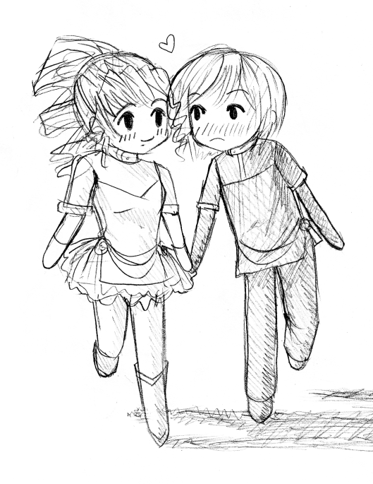 Boy And Girl Love Drawing At Getdrawingscom Free For Personal Use