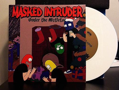 """Masked Intruder - Under The Mistletoe 7"""" - White Vinyl by Tim PopKid"""