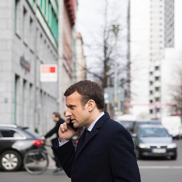 <p>Emmanuel Macron, en Berlin durante su visita a la canciller alemana Angela Merkel a mediados de marzo.</p>