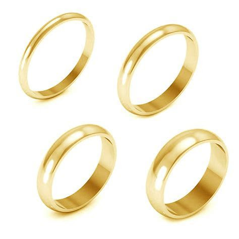 Holiday Sale 10K Yellow Gold 2/3/4/5Mm Comfort Fit Men