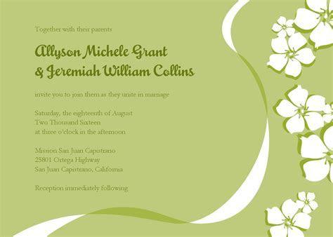 Email Wedding Invitations Templates   Sunshinebizsolutions.com
