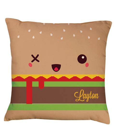 Hamburger Cushion   Gift Shop   personalised Gift Shop
