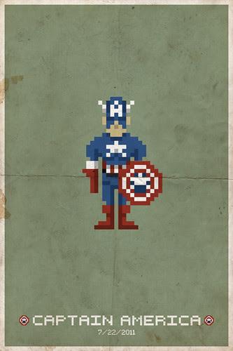 Captain America Pixel Poster