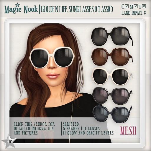 [MAGIC NOOK] Golden Life Sunglasses (Classic) MESH