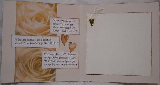 Bryllupskort - innside