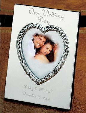 Engraved Silver Wedding Anniversary Or Engagement Picture Frame