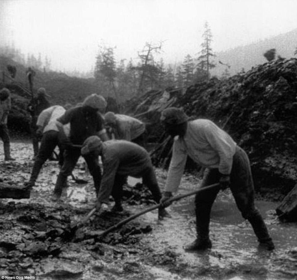 "Prisoners in the slave labour camps worked on a number of different projects across the Soviet Union, including the construction of the Kolyma Highway. Today, the highway is known as the ""Road of Bones"" because so many workers died building the roadway that they used their bones in the foundation of the road"