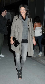 Jessica Szohr wearing Anoname Jeans