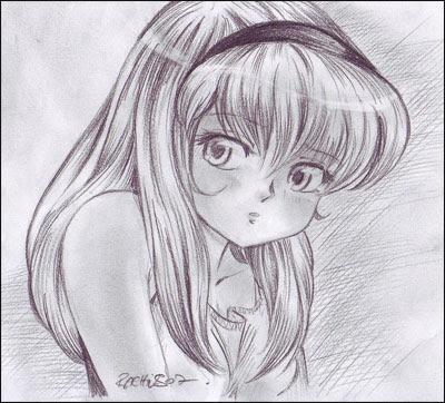 Dessin De Manga Fille De Profil