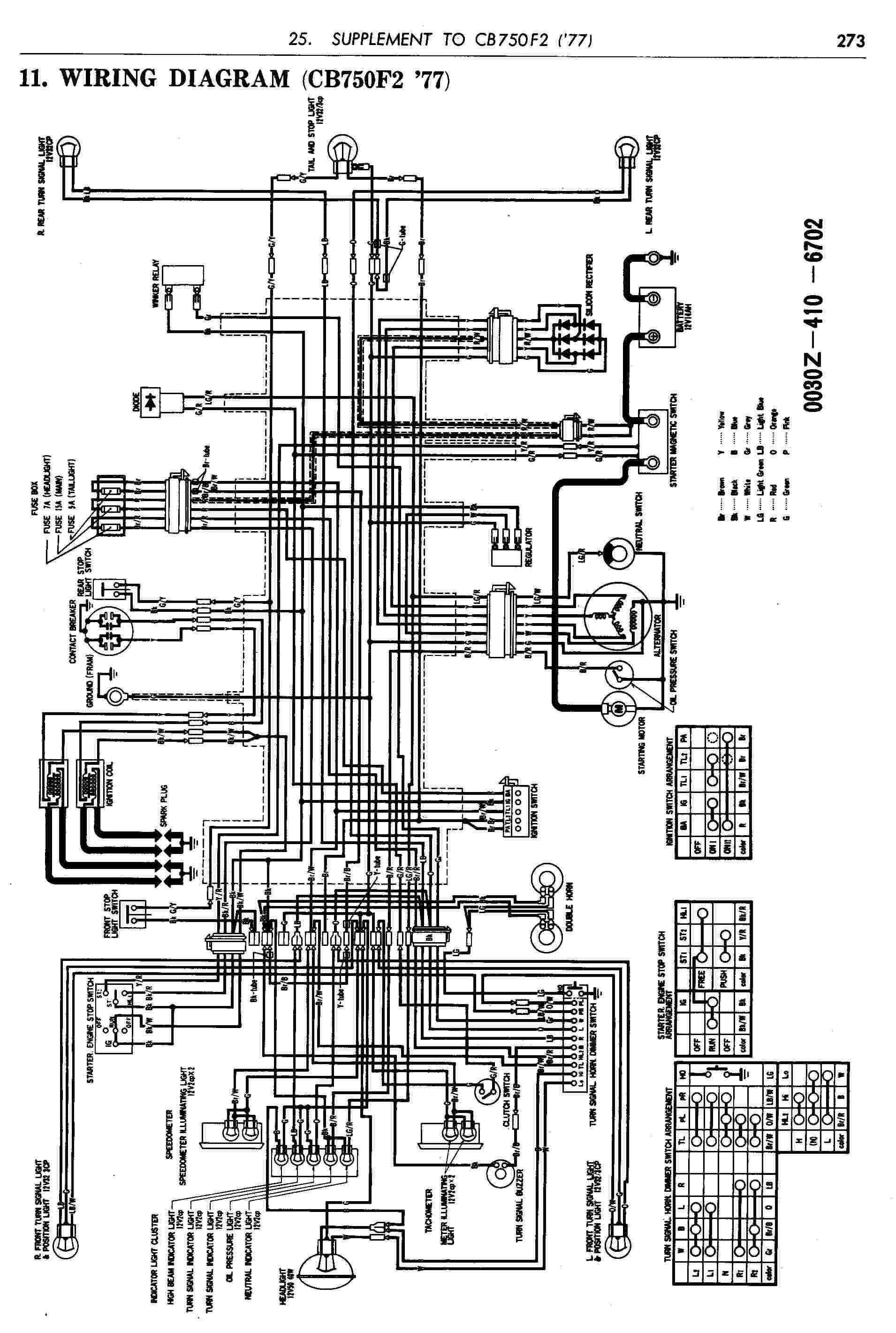 14 Schema Electrique Honda 750 Four K6