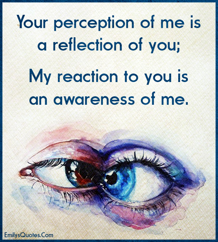 Your Perception Of Me Is A Reflection Of You My Reaction To