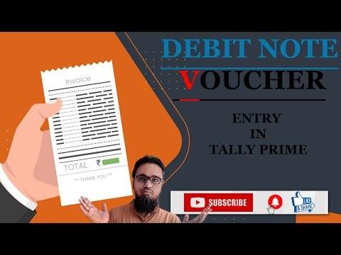 Debit Note Voucher Entry in Tally Prime | टेली प्राइम में डेबिट नोट वाउचर एंट्री कैसे करें