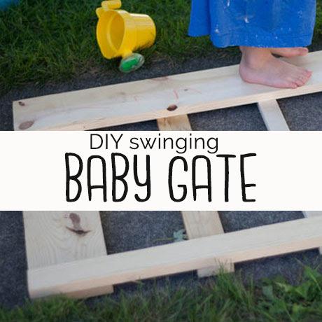 diy swinging baby gate