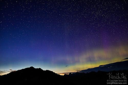 Northern Lights over North Cascades, Washington