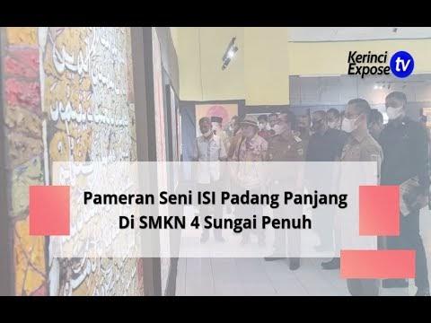 Wako Ahmadi Buka Pameran Seni ISI Padang Panjang Di SMKN 4 Sungai Penuh