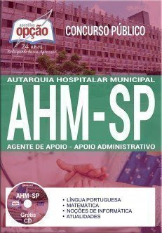 Apostila Concurso AHM SP 2017 | AGENTE DE APOIO - APOIO ADMINISTRATIVO