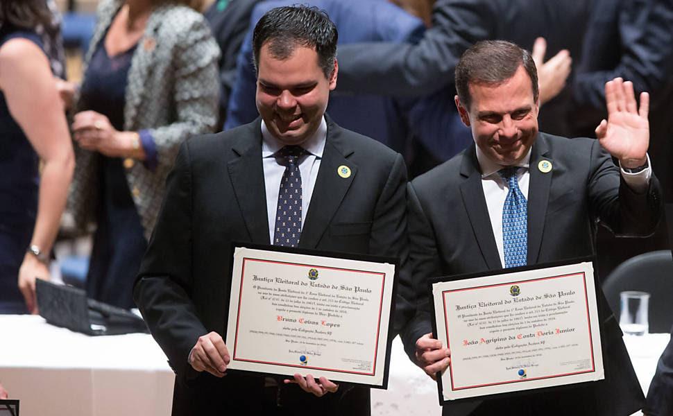 Diplomação de Doria e dos vereados eleitos de SP