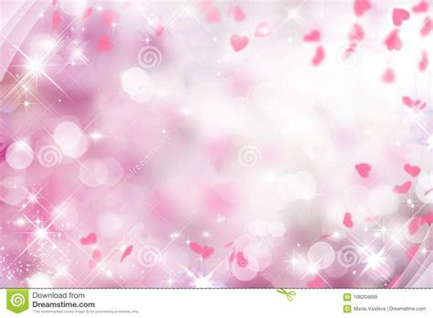 Blurry Purple Background With Pink And White And Hearts On