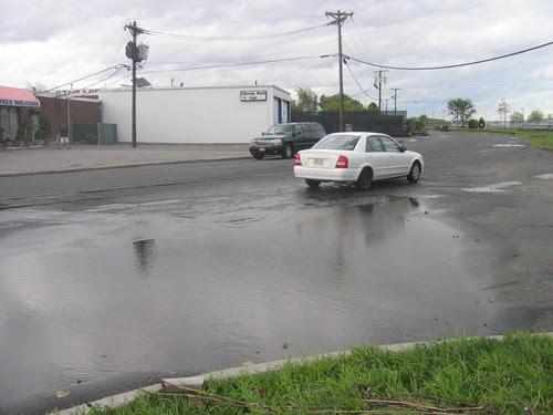 Post-Irene puddle