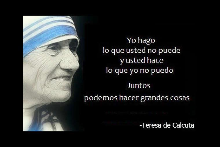 10 Frases Emblematicas De La Madre Teresa De Calcuta Imagenes