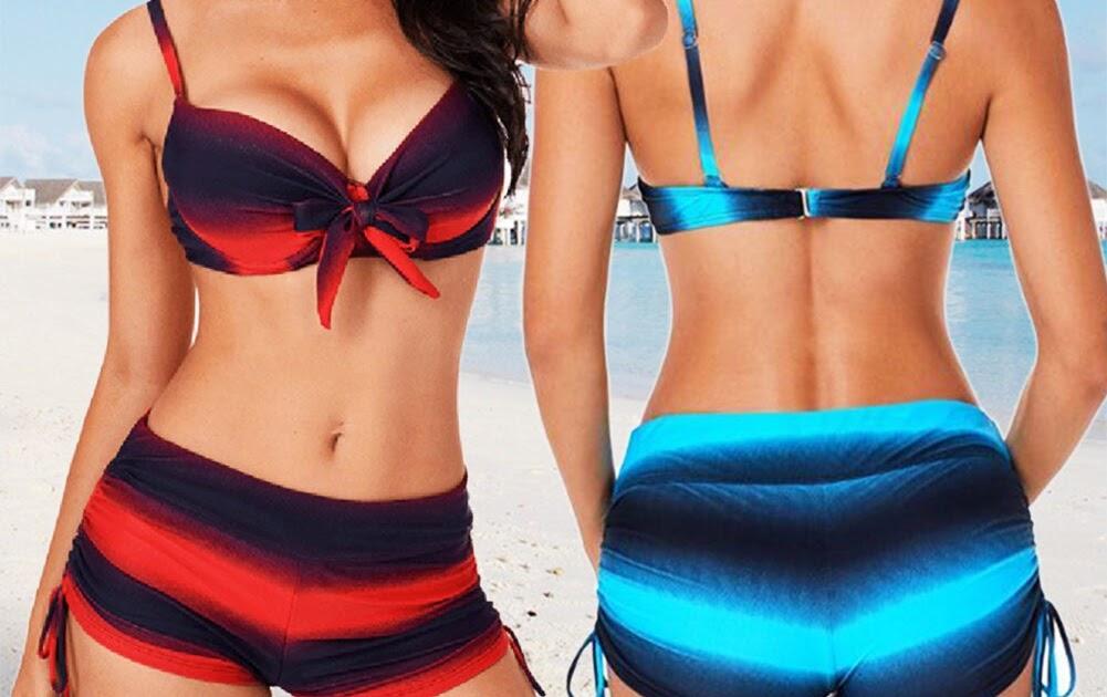 Push Tops Bikinis Comprar 2018 Mujer Playa Traje Sexy Set De Baño Up bfgIY76yvm