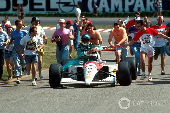 GP da Alemanha de 1991: o austríaco Gerhard Berger e o italiano Ivan Capelli