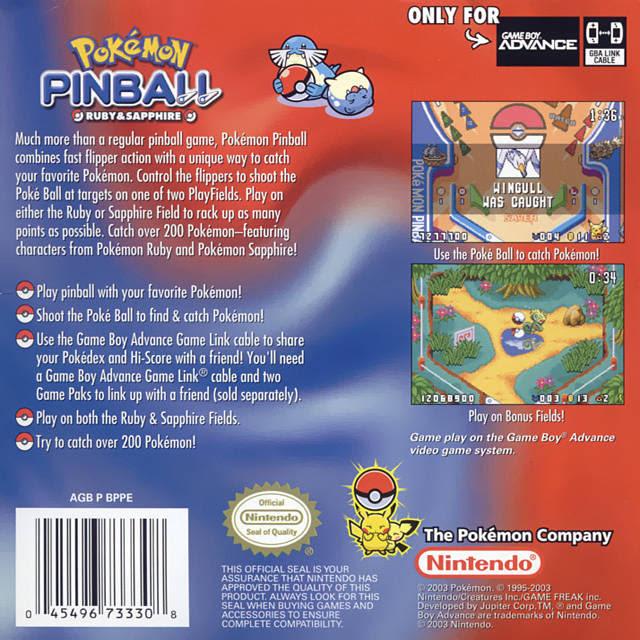 Pokemon Pinball  Ruby amp; Sapphire UMode7 ROM