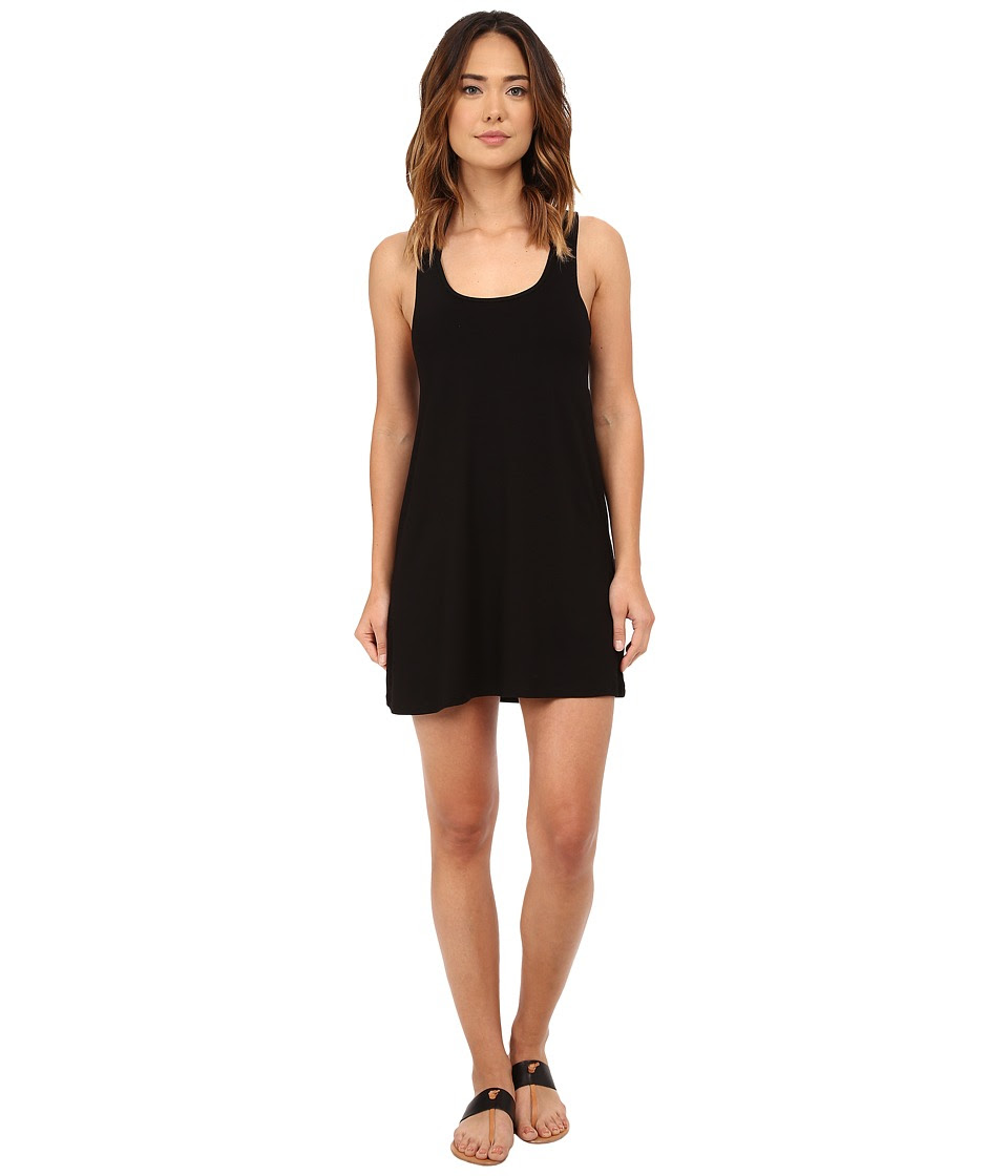 BECCA by Rebecca Virtue - Twist Turns Dress Cover-Up (Black) Women's Swimwear