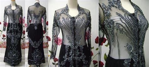 baju pengantin kebaya sulam wedding dress kebaya indah