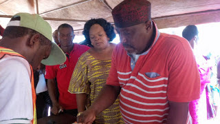 Okorocha And Wife, Nneoma Getting Accredited -