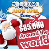 Jackpot Capital Casino Players are Travelling the World to Win Prizes and Slots Tournament Christmas Day
