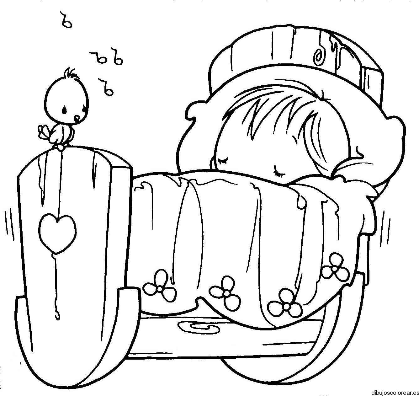 Dibujo De Un Niño Durmiendo