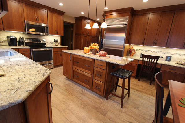 Cherry Cabinets with Quartz Countertop ~ Strongsville, OH ...