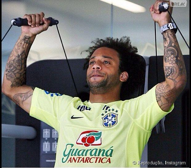 Marcelo também da Seleção do Brasil tem tatuagens