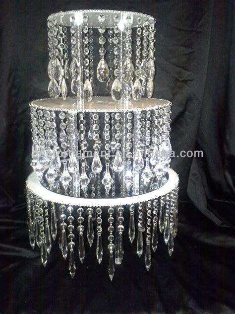 Acrylic Crystal Chandelier Wedding Cake Stand   Buy
