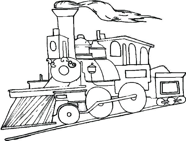 Steam Locomotive Coloring Page at GetColorings.com   Free ...
