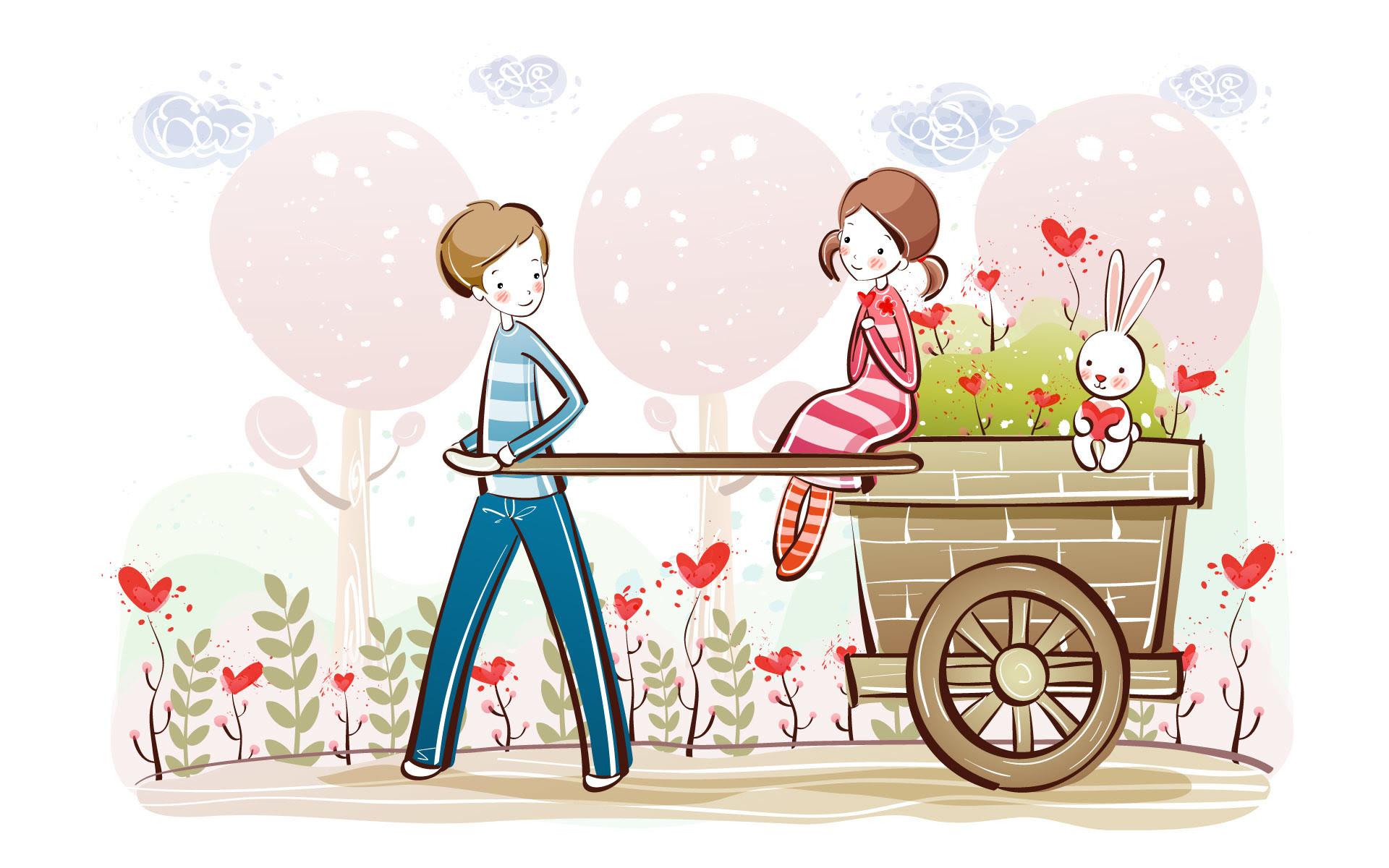 Love Couple Cartoon Wallpaper Hd 1080p Free Download Forex