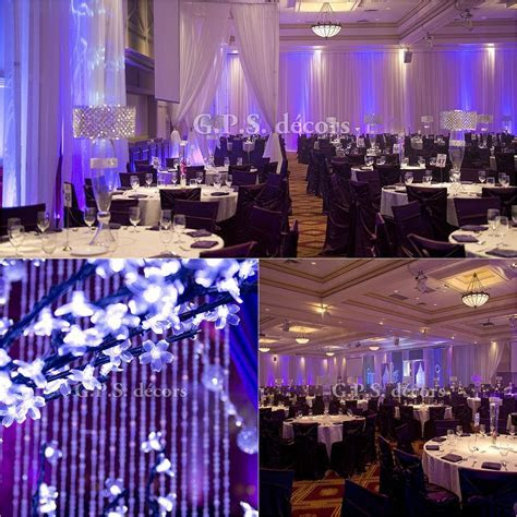 Full Hall Drape, Perimeter Up lighting ? Purple & Lilac