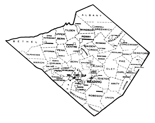 Image Result For Berks County Pa Map