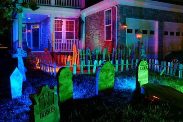 23 Stunning Neon Halloween Décor Ideas  DigsDigs