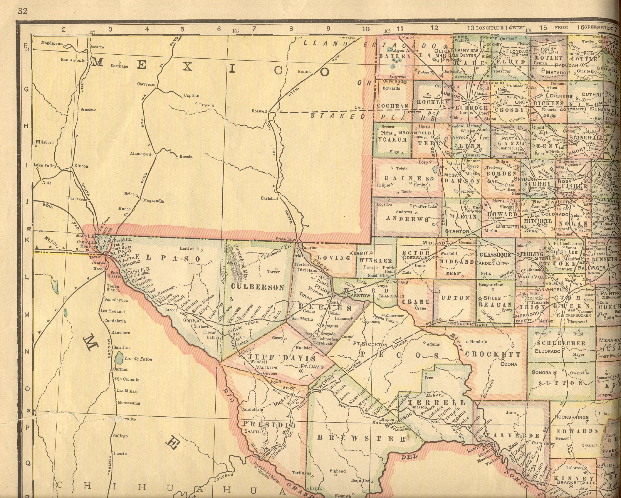 Map Of West Texas And New Mexico Business Ideas 2013