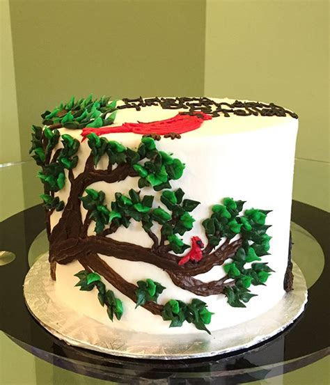 Cardinal In A Tree Layer Cake ? Classy Girl Cupcakes