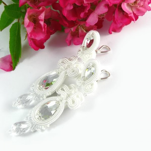 Bridal jewelry clip back clip on